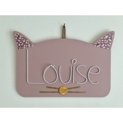 Chat fille (plaque de porte)